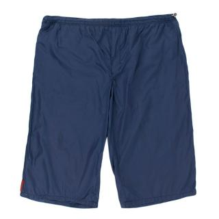 Prada Navy Nylon Swim Shorts