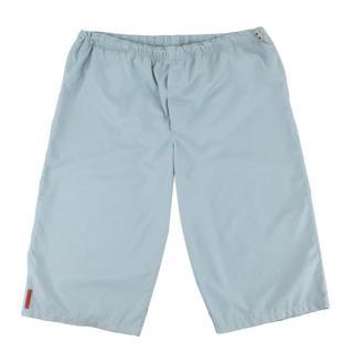 Prada Light Blue Nylon Swim Shorts