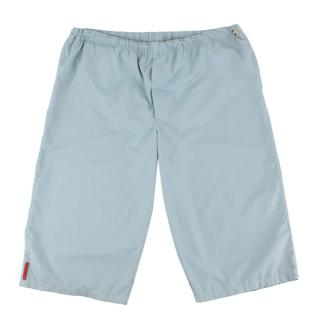 Prada Light Blue Nylon Swim Shorts