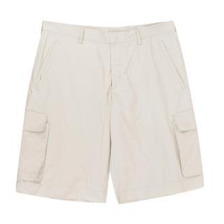 Prada Beige Nylon Shorts