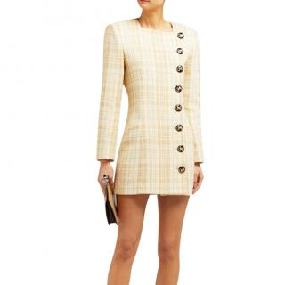 Alessandra Rich button front tweed dress