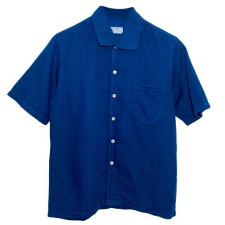 Universal Blue Men's Linen Blend Shirt