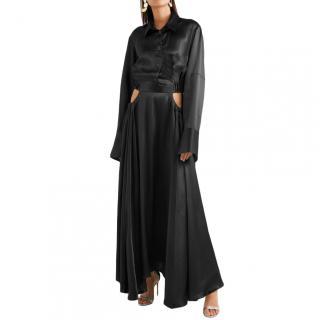Michael Lo Sordo Cutout Silk Satin Maxi Dress