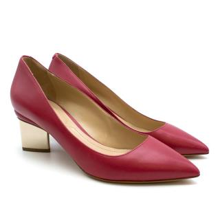 Nicholas Kirkwood Burgundy Leather Prism Pumps