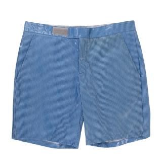 Prada Blue Striped Swim Shorts