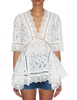 Zimmermann Hyper Eyelet Broderie-anglaise Top
