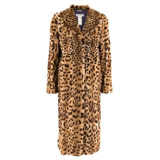 Dolce & Gabbana Kolinsky Fur Leopard Print Coat