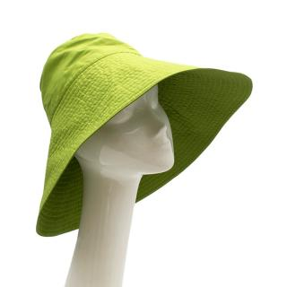 Prada Green Silk Blend Oversized Bucket Hat