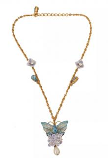 Dolce & Gabbana Floral Butterfly Necklace