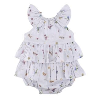 Their Nibs Violet Nature Print Baby Dress