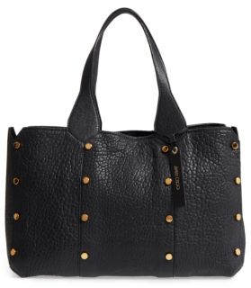 Jimmy Choo Grained Leather Lockett Tote Bag
