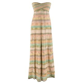 Missoni Strapless Metallic Knit Dress