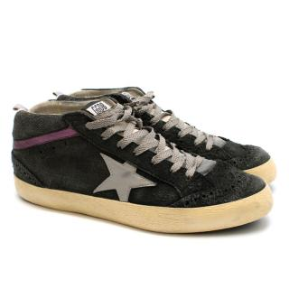 Golden Goose Superstar Distressed High Top Sneakers