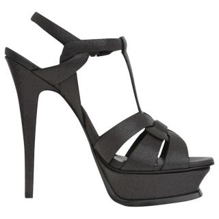 Saint Laurent Black Tribute Sandals