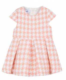 Tartine et Chocolat Mother of Pearl Houndstooth Girls 1Y Dress