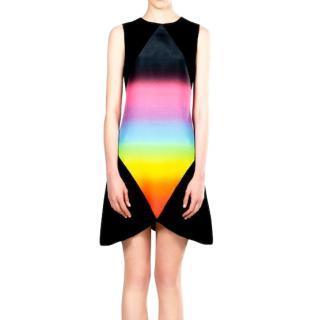 Christopher Kane Rainbow Ombre Print Little Black Dress