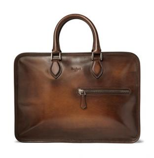 Berluti Brown Un Jour Leather Briefcase