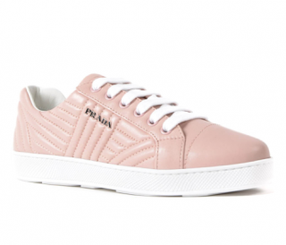 Prada Quilted Nappa Orchidea Sneakers