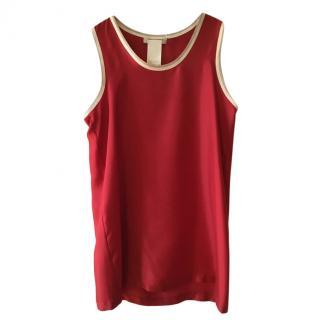 Max Mara Red Silk Tank Top