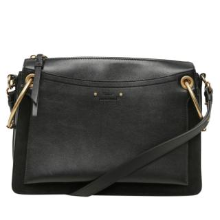Chloe Suede & Leather Small Roy Shoulder Bag