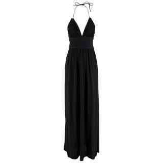 Celine Black Open-Back Halterneck Dress