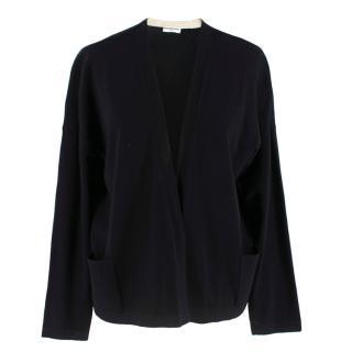 Balenciaga Black Wool Open Cardigan