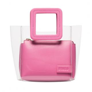 Stuad Shirley Pink Leather & PVC Tote Bag