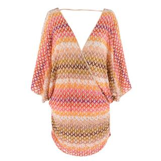 Missoni Multicolour Chevron Knit Wrap Top
