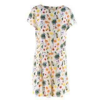 SUNO Multicolour Box Pleat Dress