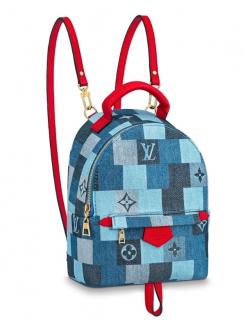 Louis Vuitton Patchwork Denim Palm Springs Mini Backpack
