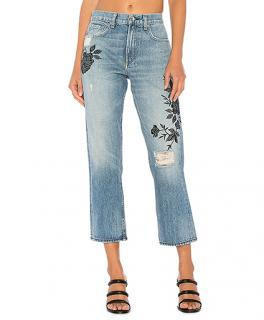 Rag & Bone Floral Embroidered Marilyn Crop Jeans