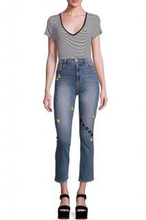 Paige Julia High Rise Aloha Pineapple Embroidered Jeans