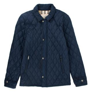 Burberry Navy Blue Quilted Jacket