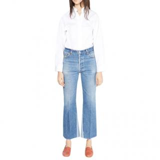 RE/Done Levi's Flared Crop Jeans