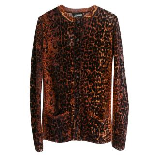 Jean Paul Gaultier Vintage new leopard print button up cardigan