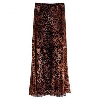 Jean Paul Gaultier vintage new leopard print maxi skirt