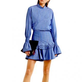 Maggie Marilyn Revolution blue striped shirt