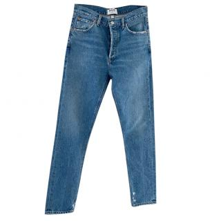 Agolde Straight Leg Distressed Jeans