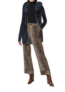 Max & Moi Black Fox Fur Trim Felicie Jacket