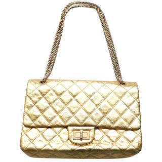 Chanel rare gold leather 2.55 Reissue Shoulder bag