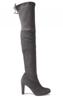 Stuart Weitzman Grey Suede OTK Boots