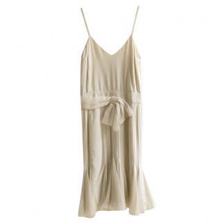Dior Cream Silk Panelled Dress