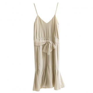 Dior Cream Silk Panelled Dress