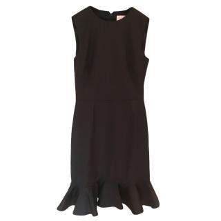 Valentino Black Technocouture Flounced Dress