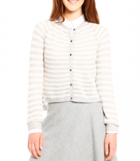 Max Mara Striped Wool Cardigan