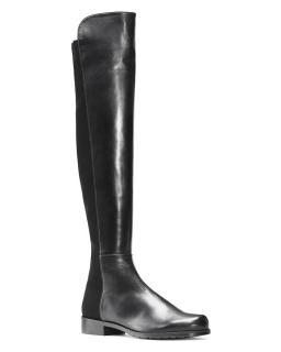 Stuart Weitzman Black leather 5050 OTK Over the Knee Boots sz37