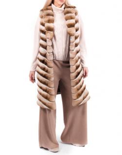 FurbySD Beige Chinchilla Fur Jacket