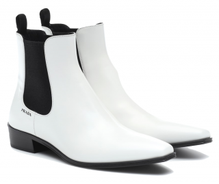 Prada White Leather 30 Ankle Boots