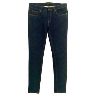 Victoria Beckham Blue Slim Leg Jeans