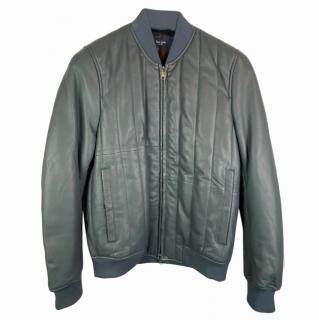 Paul Smith Leather Bomber Jacket